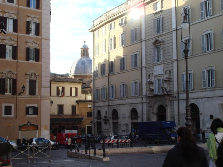 A typical city street - Rome