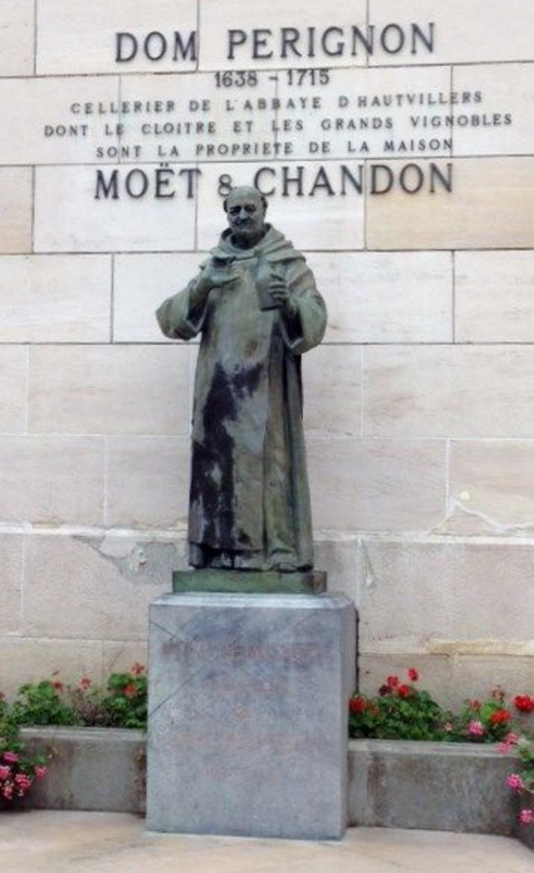 Dom Perignon Statue at Moet and Chandon - Paris