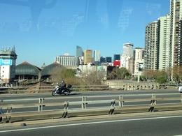 View from the highway as we were returning from the tour and returning to the city , Angel R - June 2014