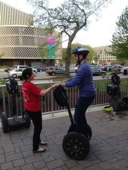 This was the first time for Fernando on the Segway - can you see how nervous he was at first?? , Balti-most - April 2013