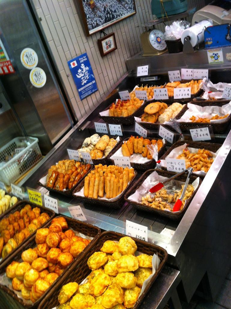 Kyoto Tempura at Nishiki Market - Kyoto