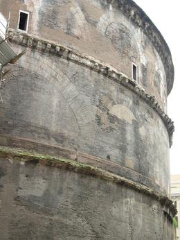 Outside shot of the Pantheon, Rome. The plain exterior that houses glorious marble inside!, Cheryl N - June 2010