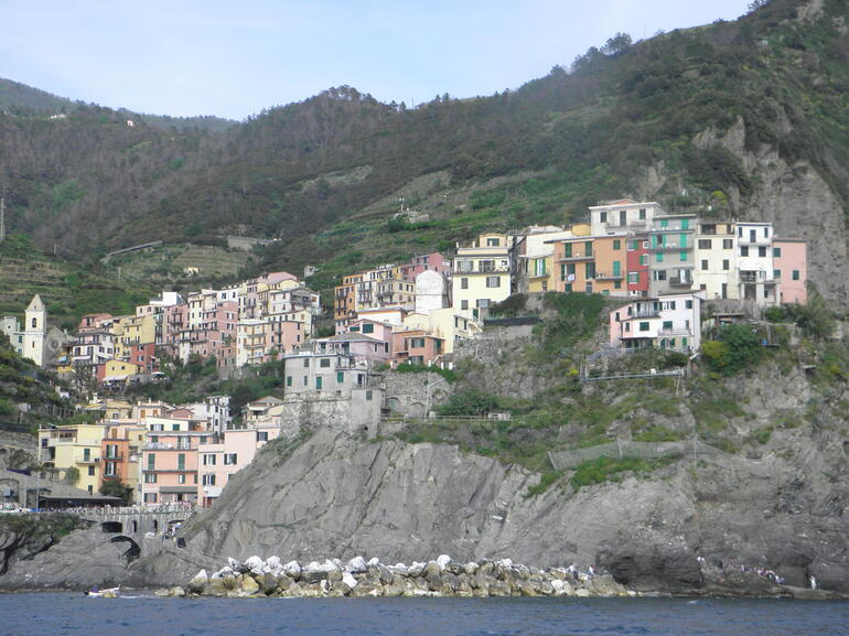 Riomaggiore from the boat 5/13 - Florence
