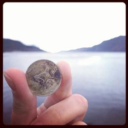 I threw out my coin in lake , STCXXX - January 2014