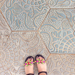 Sidewalk Tiles by Gaudi., Paola Samoa - May 2014