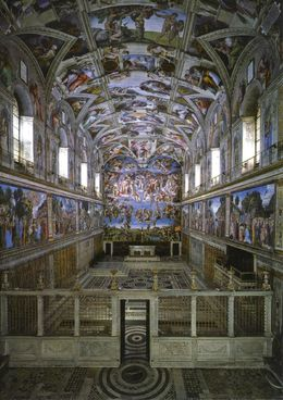 Postcard of Sistine Chapel. , Michael M - August 2016
