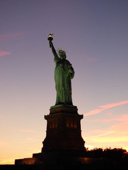 Liberty Island and the statue , Clive S - September 2015