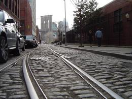 An ancient set of rail lines still snakes through this area down near the East River. It really felt as if we had traveled to another place and time. The views looking back at the city were ... , Robert R - April 2008