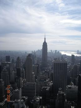 The Empire State Building taken at the Top of The Rock Tower. Beautiful! What an experience., Lisa C - October 2008