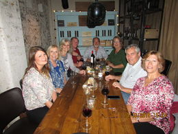 I'm at head wife in green one of the wine and tapas stops , wiggy - October 2015