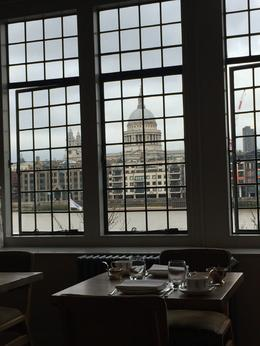 View of St Paul's dome from our table at The Swan , Julie W - March 2017