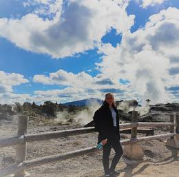 Rotorua geyser bigger than it looks , Jeanette D - November 2017