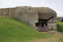 The battery at Longues-sur-Mer. It was composed of four guns of 152 mm calibre, capable of firing shells to a maximum range of 15 miles, allowing them to reach not only Omaha Beach, 8 miles to the ... , John C - September 2012