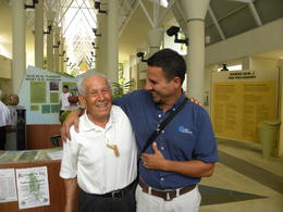 Tony Caliz (in blue) introduced us to this gentleman, said to be 90 years old, who has played an important role in advocating for Puerto Rico. , Donna H - August 2014