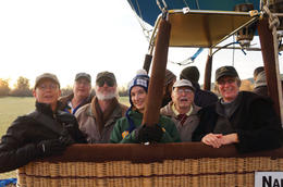 our intrepid band of balloonists , David A - January 2014