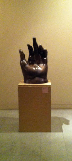 Hand sculpture by Fernando Botero., Bandit - September 2012