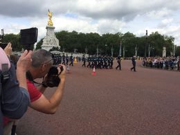 Our view of the changing of the guard ceremony , Lyndall O - August 2016