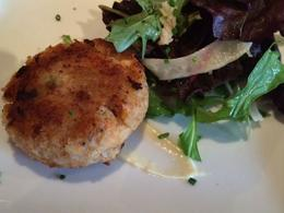 Delicious, large crab cake, taylor - July 2014