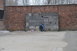 wall where executions took place , Louise Phillips P - February 2015