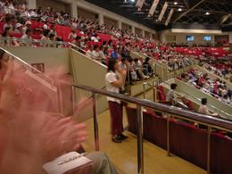 Enjoying the Sumo wresting - October 2007