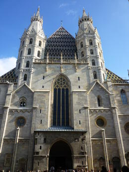 The outside of St Stephen's Cathedral, Irene - October 2013