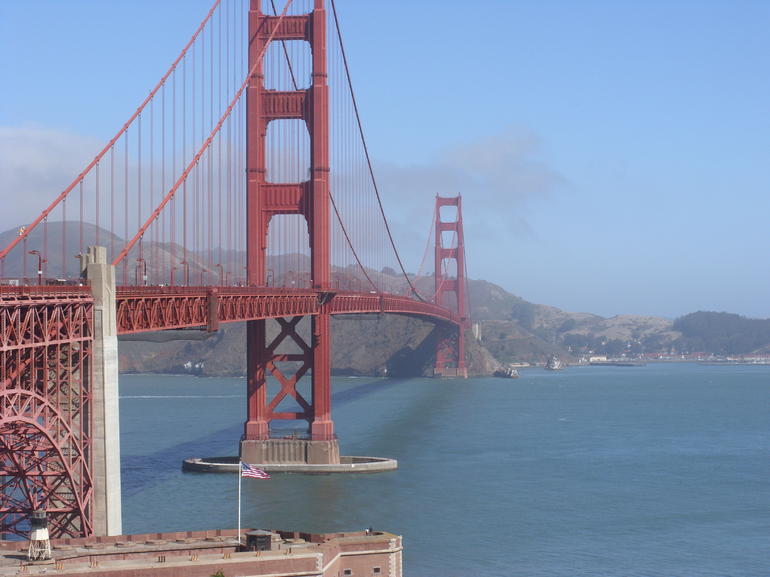 The impressive Golden Gate Bridge. - San Francisco