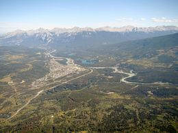 View of Jasper and the mountains from the SkyTram. , Michael B - September 2015