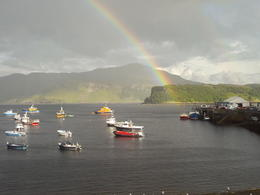 View from my hotel window in Portree , Tullo - August 2017