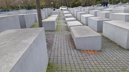Holocaust Memorial in Berlin just south of Berlin's Brandenburg Gate , marlenepetrella - January 2018