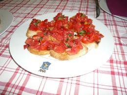 Our starter of bruschetta, AlexB - July 2012