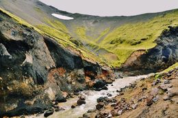 One of the numerous amazing sights of Landmannalaugar , RM - September 2015