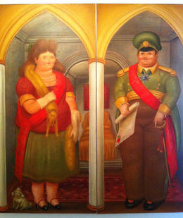 Military husband and wife as portrayed by Botero., Bandit - September 2012