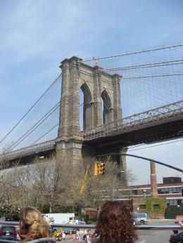 Brooklyn Bridge taken from Brooklyn. - April 2008