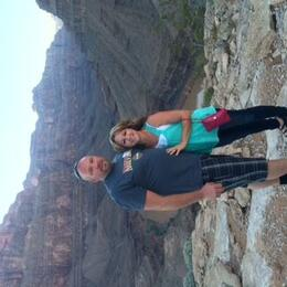 My husband and I after eating dinner in the canyon , Brandy K - October 2014