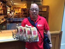 Fantastic guide serving us a bag full of yummy breads and crackers to use throughout the tour., taylor - July 2014