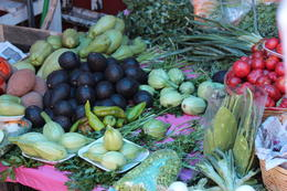 Lots of locally grown fruits and vegetables that are found only in the state of Oaxaca., Bandit - November 2013