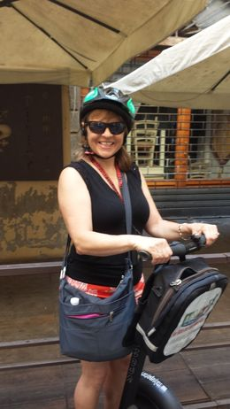 This is me, Sarah, riding a segway for the first time. Had a blast! , Sarah J - July 2016