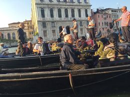 Looks like the traditional dress of the Gondaliers has changed with this Gondola company! , Anna P - June 2015