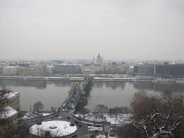 looking over Danube from the Buda side, as part of the walking tour, Alexander D - January 2010