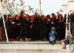 At the Louis XIV Square there was a choir singing , Alexey B - November 2014