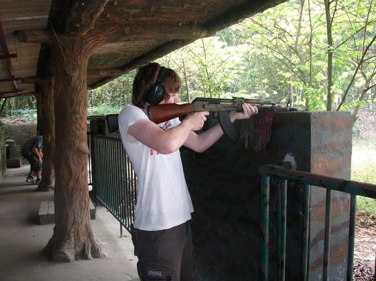 Shooting the AK-47 - Ho Chi Minh City