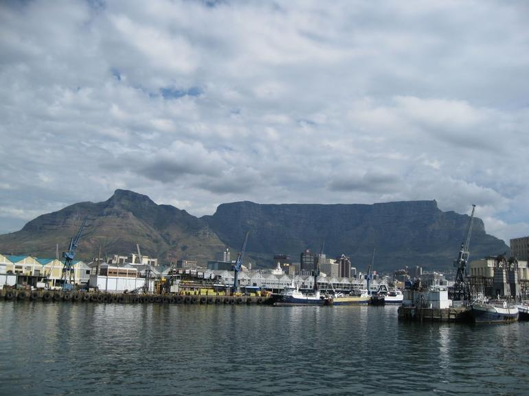 Table Mountain & Capetown from Robben Island boat - Cape Town