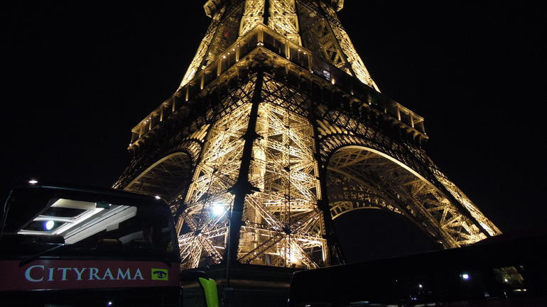 The Eiffel Tower after dark - Paris