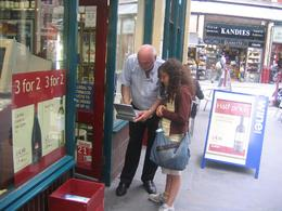 The DVD player brings the tour to life as it proves you are standing in the footsteps of Harry Potter et al. Our guide and his special Harry Potter fan enjoy the site of a Harry Potter film location., Stuart L - July 2008