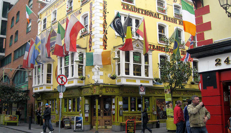 The start pub in Temple Bar - Dublin