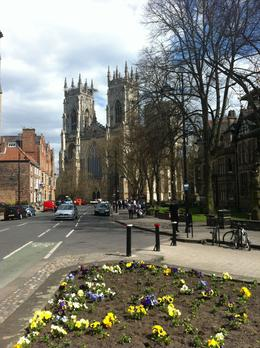 One of the first stops, leaving from the York Rail Station, is the York Minster Cathedral. , Brian G - May 2013