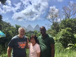 with Bernard at the Twin Pitons , Robert W - February 2017