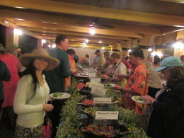 One of the buffet tables at the Smith family Luau. , ennovy1960 - January 2018