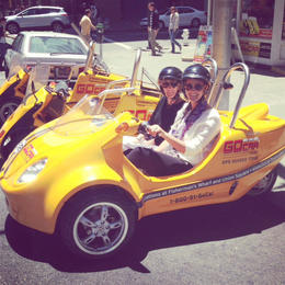 My mom and I rocking the sweet helmets and our sweet ride. , Elaine T - June 2013
