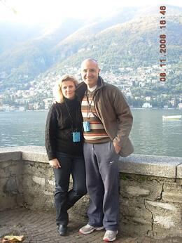 Sotiri and his wife Irene at the village Torno., IRENE SX - November 2008